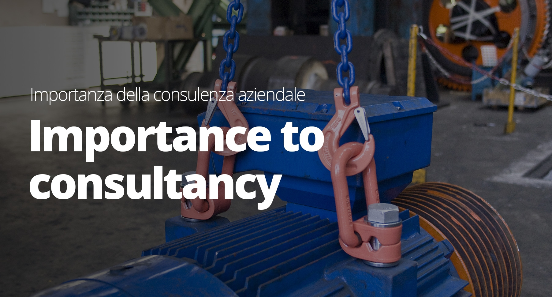 Consultancy on the use of lifting equipment